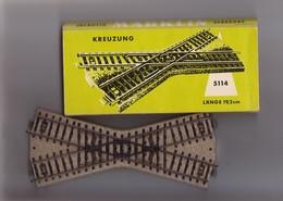Marklin - Croisement - Kreuzung - 5114 - Rails