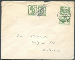 PU85/86 - 35c. Petit SCEAU De L'ETAT (LOTERIE COLONIALE) Obl. C. LIEGE 1 Sur Lettre Du 1-IV-1937 Vers Ostende- 12862 - Advertising
