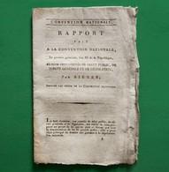 D-FR Révolution 1794 SIEYES, Rapport Fait à L'Assemblée Nationale Au Nom Des Comités... - Documents Historiques