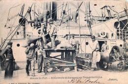 Anvers -  Scènes Du Port - Débardeurs Déchargeant Un Transatlantique - Antwerpen
