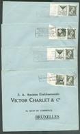 Lot De 8 Lettres Avec Timbres PUB 99/106 (série Complète Avec Bord Papier Blanc) Vers Bruxelles- 12864 - Advertising
