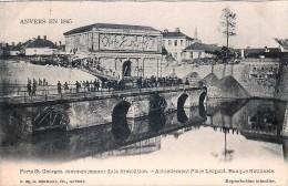 Anvers En 1860 - Porte St. Georges - Commencement De La Démolition - Antwerpen