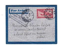 Sur Enveloppe Par Avion Timbre Poste Aérienne Indochine. Oblitération Hanoï 1934. (564) - Indochine (1889-1945)