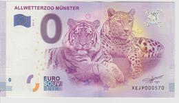Billet Touristique 0 Euro Souvenir Allemagne Allwetterzoo Munster 2017-2 N°XEJP000570 - Privéproeven