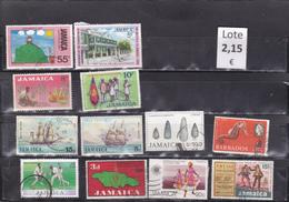Jamaica  -  Lote  12  Sellos Diferentes  -  7/7296 - Jamaica (1962-...)