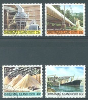 CHRISTMAS - USED/OBLIT.  - 1981 - PHOSPHATE INDUSTRY -  Yv 148-151 - Lot 17360 - Christmas Island