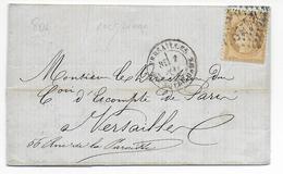 2 MAI 1871 - COMMUNE DE PARIS - SIEGE - LETTRE De VERSAILLES => COMPTOIR D'ESCOMPTE DE PARIS TRANSFERE à VERSAILLES - Marcophilie (Lettres)