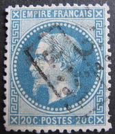 """Lot R1510/281 - NAPOLEON III Lauré N°29A - LGC + CACHET RECTANGULAIRE """" RAR """" - 1863-1870 Napoléon III Lauré"""