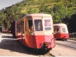 ** Lot De 2 Cartes ** TRAIN - AUTORAIL BILLARD - Ligne FLORAC - STE CECILE D'ANDORGE Et CERNAY - SENTHEIM - CPSM GF - Trains