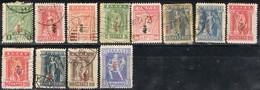 Sellos Varios GRECIA 1917, No Completa  Yvert 271-288 º - Usados