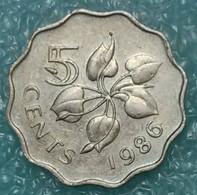 Swaziland 5 Cents, 1986 - Swaziland