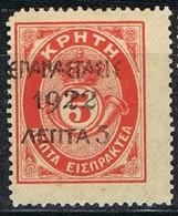 Sellos Varios GRECIA 1923, Sobrecargdas Sellos Creta,  Yvert 311 * - Grecia