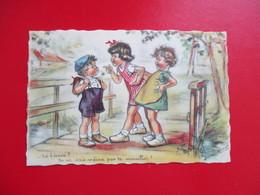 CPA ILLUSTRATEUR GERMAINE BOURET ENFANTS TOI FIANCE  ? - Bouret, Germaine
