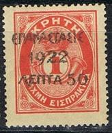 Sellos Varios GRECIA 1923, Sobrecargadas Sellos Creta,  Yvert 316 * - Gebraucht