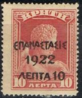 Sellos Varios GRECIA 1923, Sobrecargadas Sellos Creta,  Yvert 301 * - Grecia