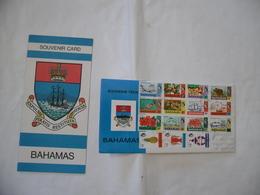 BUSTA PRIMO GIORNO FDC SOUVENIR DELLE BAHAMAS - Bahamas (1973-...)