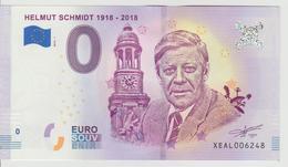 Billet Touristique 0 Euro Souvenir Allemagne Helmut Schmidt 1918-2018 2018-1 N°XEAL006248 - EURO