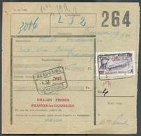 Bordereau De Chemin De Fer Affr. 13Fr50 Obl. FRASNES-LEZ-GOSSELIES Vers BEAURAING VOYAGEURS 1949 - 12874 - Railway