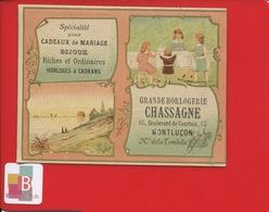 Montluçon Horlogerie Bijouterie Chassagne Calendrier Chromo Billet Tombola Loterie 1896 - Calendars