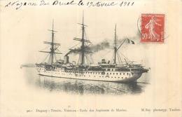 MARINE DE GUERRE Bateau Duguay Trouin  Vaisseau école Des Aspirants De Marine   2 Scans - Guerra
