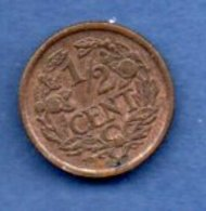 Pays -Bas    - 1/2 Cents 1936    -- Km # 138  --    état SUP - [ 3] 1815-… : Kingdom Of The Netherlands