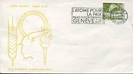 35555 Switzerland, Special Postmark Geneve 1958 Atome Pour La Paix Exposition 1958 Geneva - Atomo