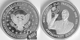 ETATS-UNIS-Intronisation De Bill Clinton 20/01/1993  Argent 999 ‰ - USA