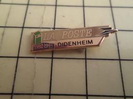 313g Pin's Pins / Beau Et Rare : Thème POSTES / ALSACE LA POSTE DIDENHEIM 1992-1993 - Mail Services