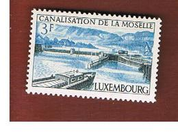 LUSSEMBURGO (LUXEMBOURG)  - SG 743   -  1964 MOSELLE CANAL       - NUOVI (MINT) - Nuovi