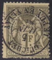 Guichet - Le Puy En Velay (Hte Loire) : Cachet à Date Type 15 Sur Sage (voir Dentelure). - 1877-1920: Période Semi Moderne