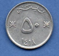 Oman   - 50 Baisa  1997   -- Km # 46a  --    état SUP - Oman