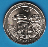 USA ¼ Dollar Washington Quarter 2016 P Shawnee Illinois National Park - Federal Issues