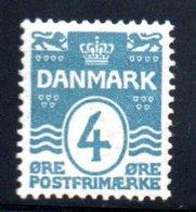 Danemark / N 51 / 4 Ore Bleu / NEUF Avec Trace De Charnière - Nuovi
