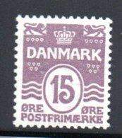 Danemark / N 52 / 15 Ore Lilas / NEUF Avec Trace De Charnière - Nuovi