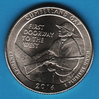 USA ¼ Dollar Washington Quarter 2016 D Cumberland Gap National Park - Federal Issues