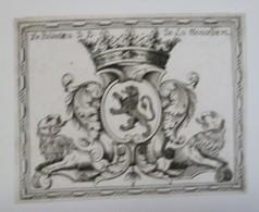 Bel Ex-libris Armorié Français XVIIIème - D.D. De La Menardiere - Ex Libris