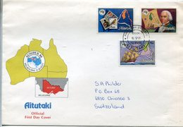 35569 Aitutaki,  Fdc  1984 Ausipex Melbourne 1984,  William Bligh Discoverer Of Aitutaki - Aitutaki