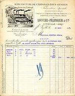 38.VIZILLE.MANUFACTURE DE CARTON EN TOUS GENRES.LOUCHE-PELISSIER & Cie. - Imprimerie & Papeterie