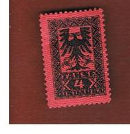 ALBANIA  - SG D141 SEGNATASSE  -  1922 POSTAGE DUE 4    -   MINT** - Albania