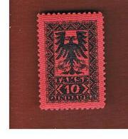 ALBANIA  - SG D142 SEGNATASSE  -  1922 POSTAGE DUE 10  -   MINT** - Albania