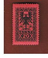 ALBANIA  - SG D143 SEGNATASSE  -  1922 POSTAGE DUE 20  -   MINT** - Albania