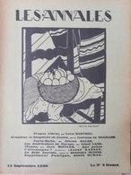 Les Annales Politiques Et Littéraires (15 Sept 1930) Que Pense L'Allemagne - Simplicité Costes - Américaines - Books, Magazines, Comics