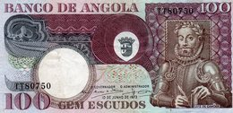 Colonia Angola Portuguesa Belhete  De 100 Escudos 1973 - Luis Camoes - Angola