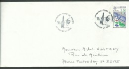 1991: N°2697 Sur Env., Aérospaciale Foire De Mantes, 22/9/1991, TB - Marcophilie (Lettres)