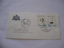 SAN MARINO BUSTA PRIMO GIORNO FDC  ANNO INTERNAZIONALE DELLA GIOVENTù 1985 - FDC