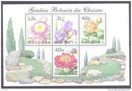 2002. Moldova, Flowers, Botanic Garden Of Kishinev, S/s, Mint/** - Moldavia