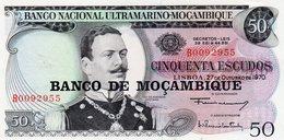 Moçambique> Belhete  De 50 Escudos 1970 Banco Nacional Ultramarino-Mocambique - Mozambique