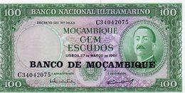 Moçambique> Belhete  De 100 Escudos 1961 Banco Nacional Ultramarino-Moçambique - Mozambique
