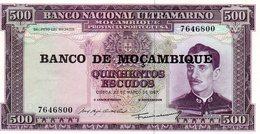 Moçambique> Belhete  De 500 Escudos 1967 Banco Nacional Ultramarino-Moçambique - Mozambique