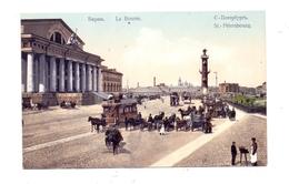 RU 190000 SANKT PETERSBURG, La Bourse, Maronen-Verkäufer, Pferde-Tram, Kutschen - Russland